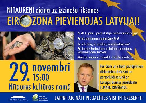 Diskusija par eiro ieviešanu